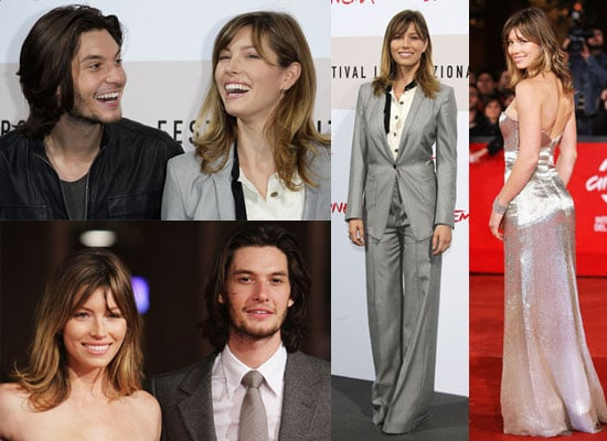 Photos of Jessica Biel and Ben Barnes at Easy Virtue Premiere in Rome