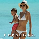 Miranda and Flynn hung out on the beach.