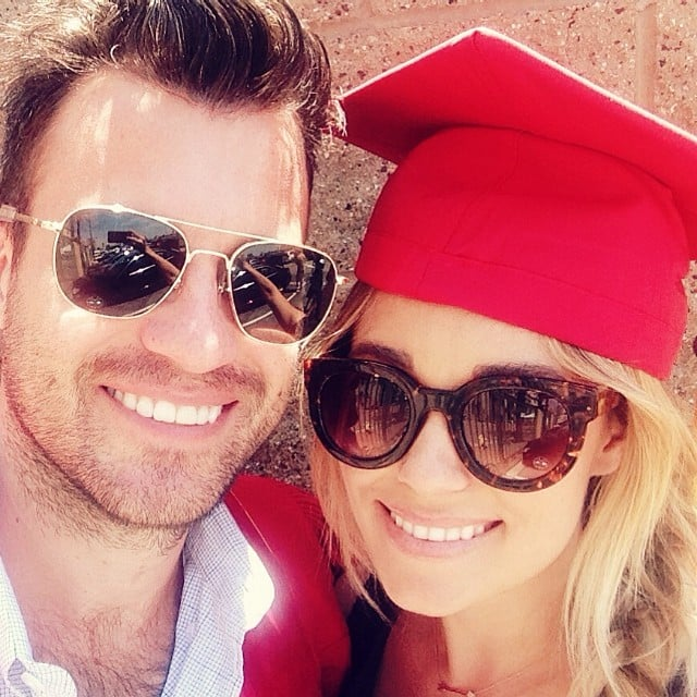 Lauren Conrad wore her fiancé William Tell's graduation cap after he finished law school. Source: Instagram user laurenconrad