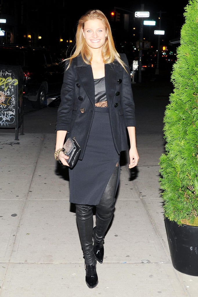 Constance Jablonski made an entrance at W's book party for Private at Sant Ambroeus.