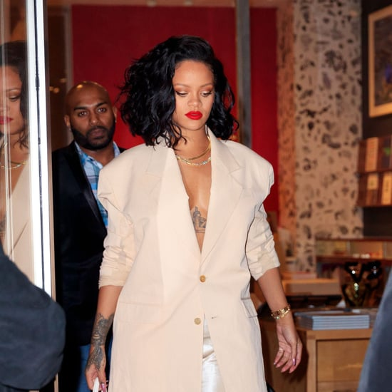 Rihanna's Slip Dress and Blazer January 2019