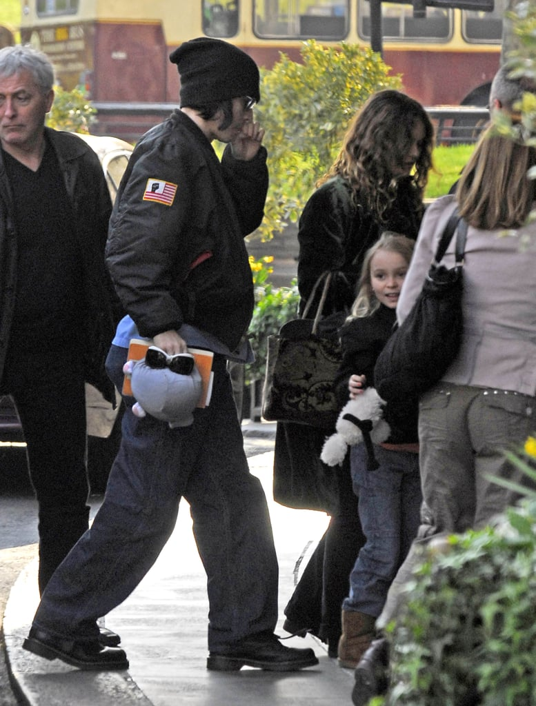 Johnny Depp and Vanessa Paradis joined daughter Lily-Rose in LA during April 2007.