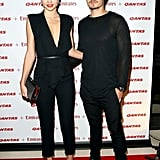 Miranda Kerr posed with her husband Orlando Bloom.