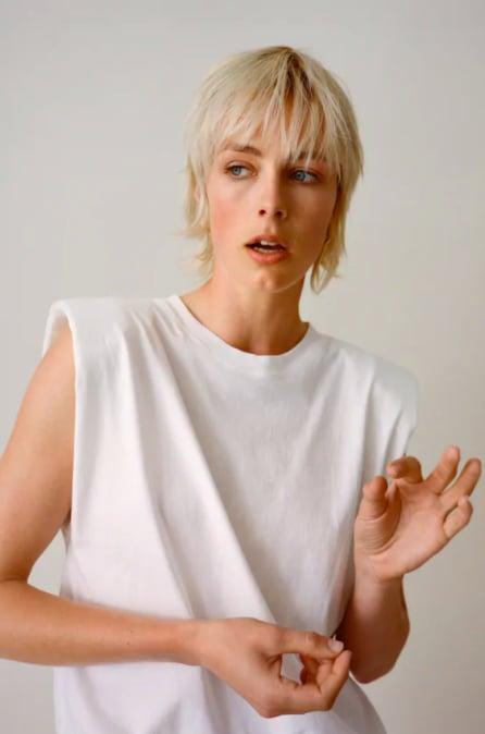 Zara T-Shirt With Shoulder Pads ($29.95)