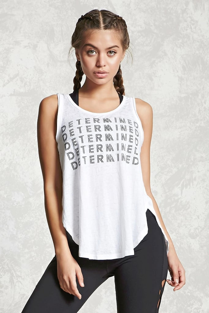 75c503869a583 Forever 21 Active Vented Graphic Tank Top (£11)