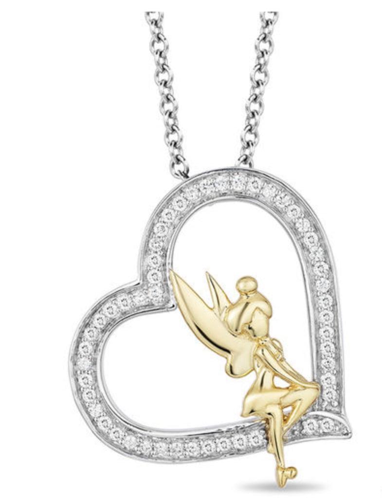 Enchanted disney tinker bell diamond heart pendant zales disney enchanted disney tinker bell diamond heart pendant aloadofball Images