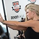 Jessica Simpson and Teen Vogue's Amy Astley took a selfie during the March 2015 Teen Vogue Fashion University event in NYC.