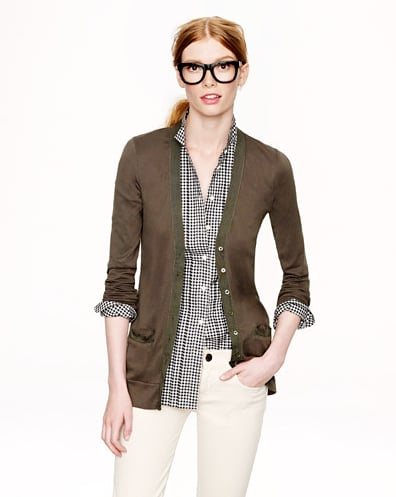 Who doesn't need an office cardigan, like this J. Crew perfect-fit mixed-tape cardigan ($50)?