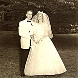 One of George and Virginia's Original Wedding Photos From 1959