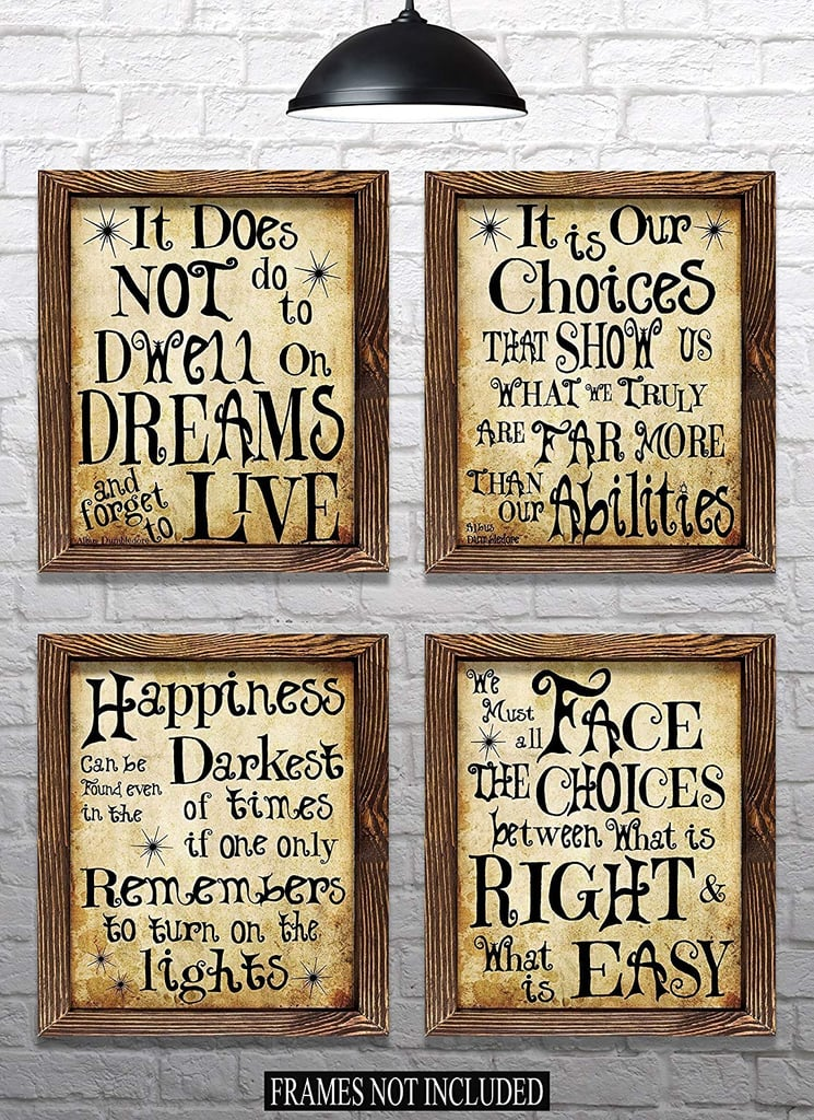 Harry Potter Quotes Sayings Set Of 4 Prints Harry Potter
