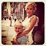 Jennie Garth brought her girls to NYC for a press tour and visited Times Square. Source: Instagram user jenniegarth