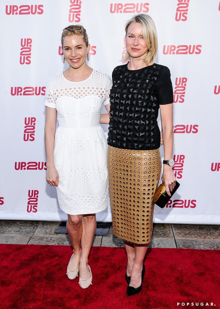 Sienna Miller and Naomi Watts met up at the Up2Us gala.