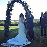 """We Love How the Train Surrounded Her as She Said """"I Do"""""""