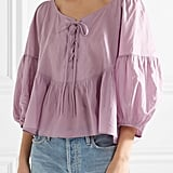 Apiece Apart Isak Lace-Up Top
