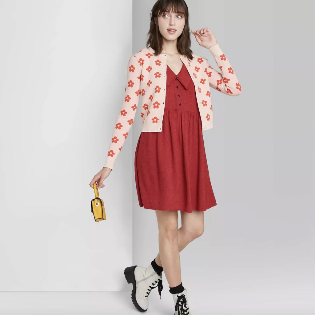Cheery Cardigan: Wild Fable Button-Front Cropped Cardigan