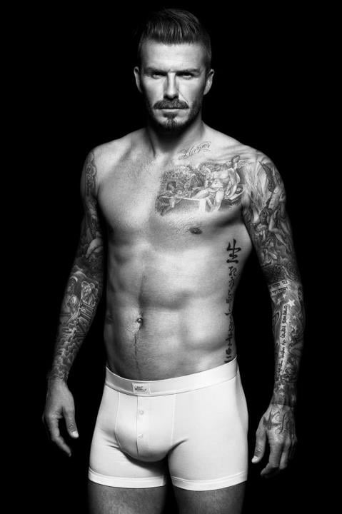 David Beckham revealed his new shirtless H&M ads in August.