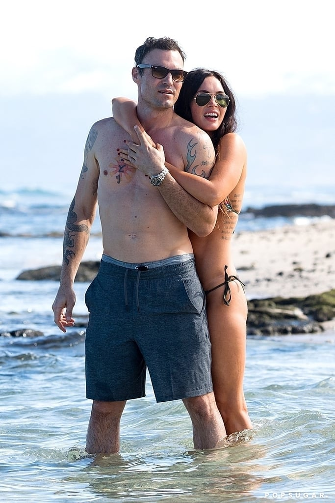 Megan Fox and Brian Austin Green Showing PDA in Hawaii