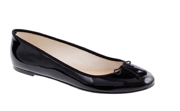 You can't go wrong with a ballet flat, and for Fall, we're digging the slick finish of this patent leather iteration. Whether you wear it with your favorite pair of jeans or a pleated tartan-infused skirt, you'll prove your status as a master of the classics. J.Crew Classic Patent Ballet Flats ($135)