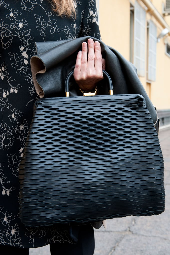 The perforation on this classic bag gave it a little edge. Source: Greg Kessler