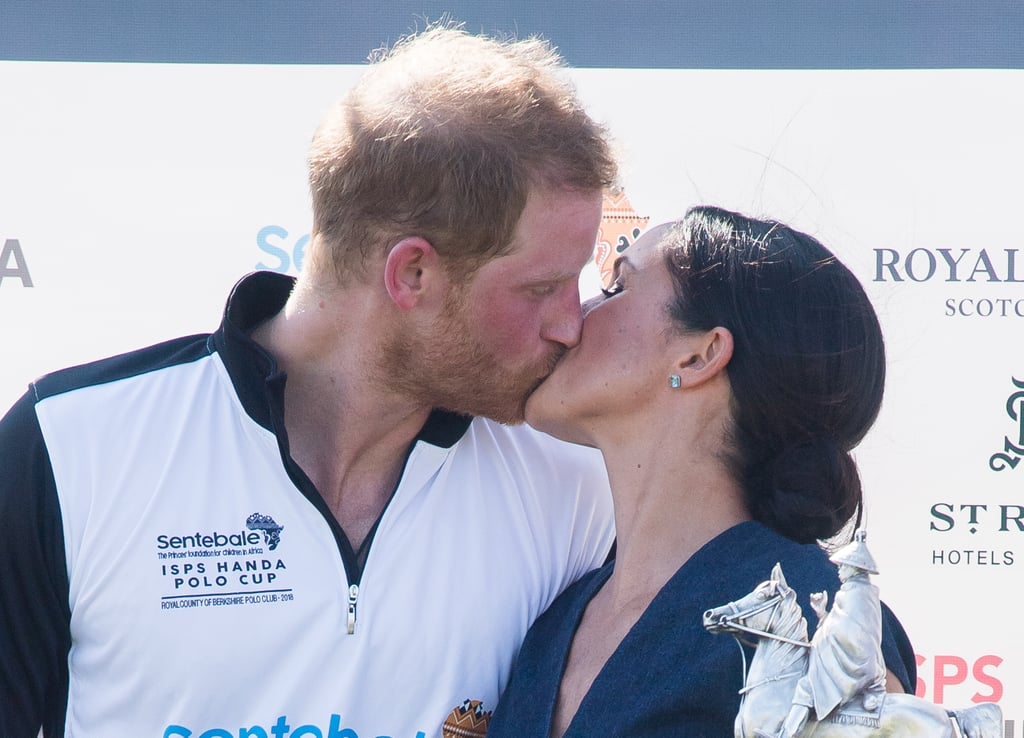 Prince Harry and Meghan Markle Kissing at Polo Match in July