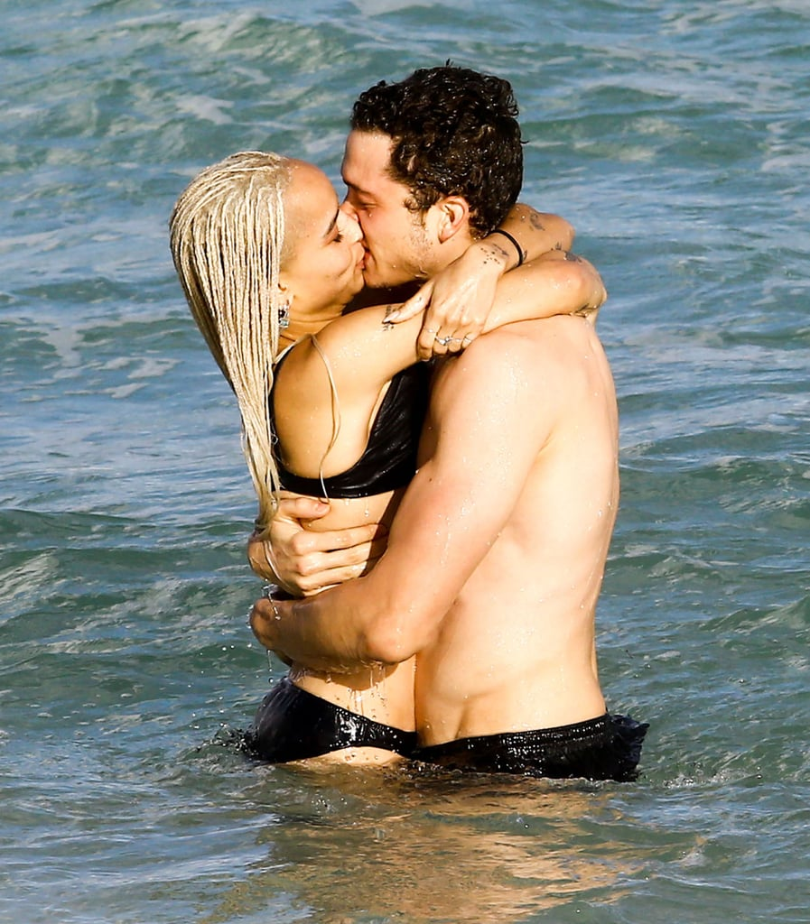 Zoë Kravitz put her insane body on display when she hit up the beach in Miami on Friday. Clad in a black bikini, the 28-year-old actress showed off her new platinum blond 'do as she splashed around in the ocean. She also appeared to be in good spirits as she chatted with a friend, who was lounging nearby. Of course, this isn't the first time we've been blinded by Zoë's svelte figure. During her Miami beach day, Zoë was seen frolicking in the ocean and packing on the PDA with a new guy, Love star and Nocturnal Animals actor Karl Glusman. She and her former boyfriend, musician Twin Shadow, reportedly split sometime in the Summer.       Related:                                                                                                           Look Back at Last Year's Hottest Swimsuit Moments