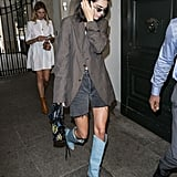 Kendall in Her Blue Fendi Boots