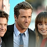 Jason Bateman, Ryan Reynolds, and Olivia Wilde at The Change-Up premiere.
