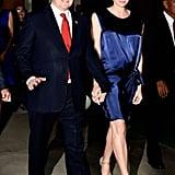 Princess Charlene's Gathered Silk Dress, 2014