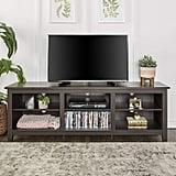 We Furniture Espresso Wood TV Stand