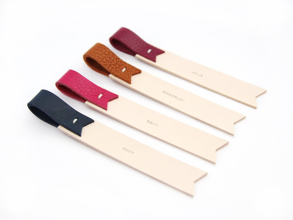 Personalized Leather Bookmark ($14)