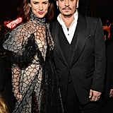 Pictured: Juliette Lewis and Johnny Depp