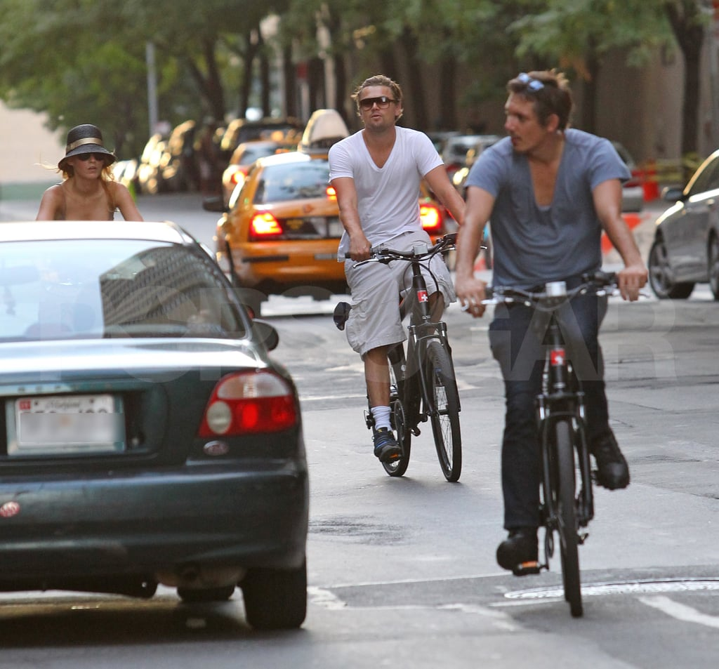 Leonardo DiCaprio and Blake Lively ride bikes in NYC.