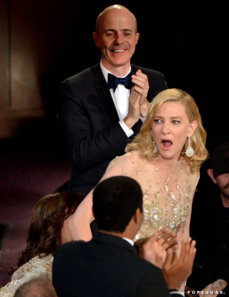 Cate Blanchett's reaction to hearing her name for the best actress win was  priceless.
