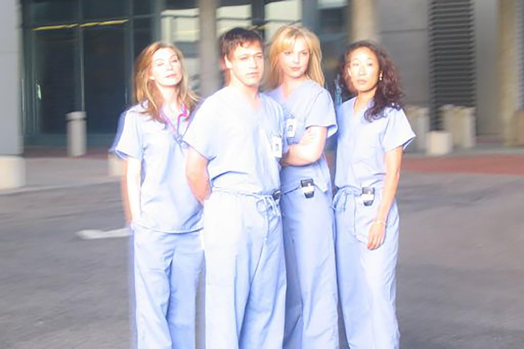 Ellen Pompeo, T.R. Knight, Katherine Heigl, and Sandra Oh