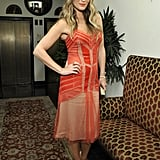 Molly Sims at W magazine's Golden Globes party.
