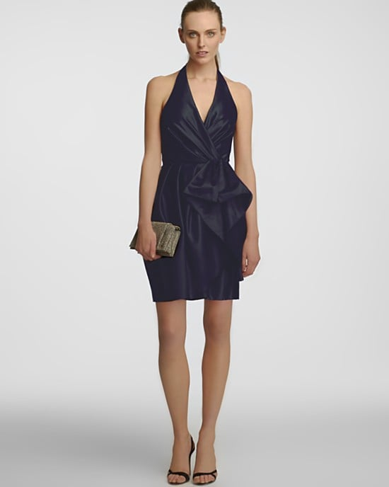 You can totally do cocktail length at a black-tie Halston Heritage Bow and Pocket Detail Halter Dress ($375).