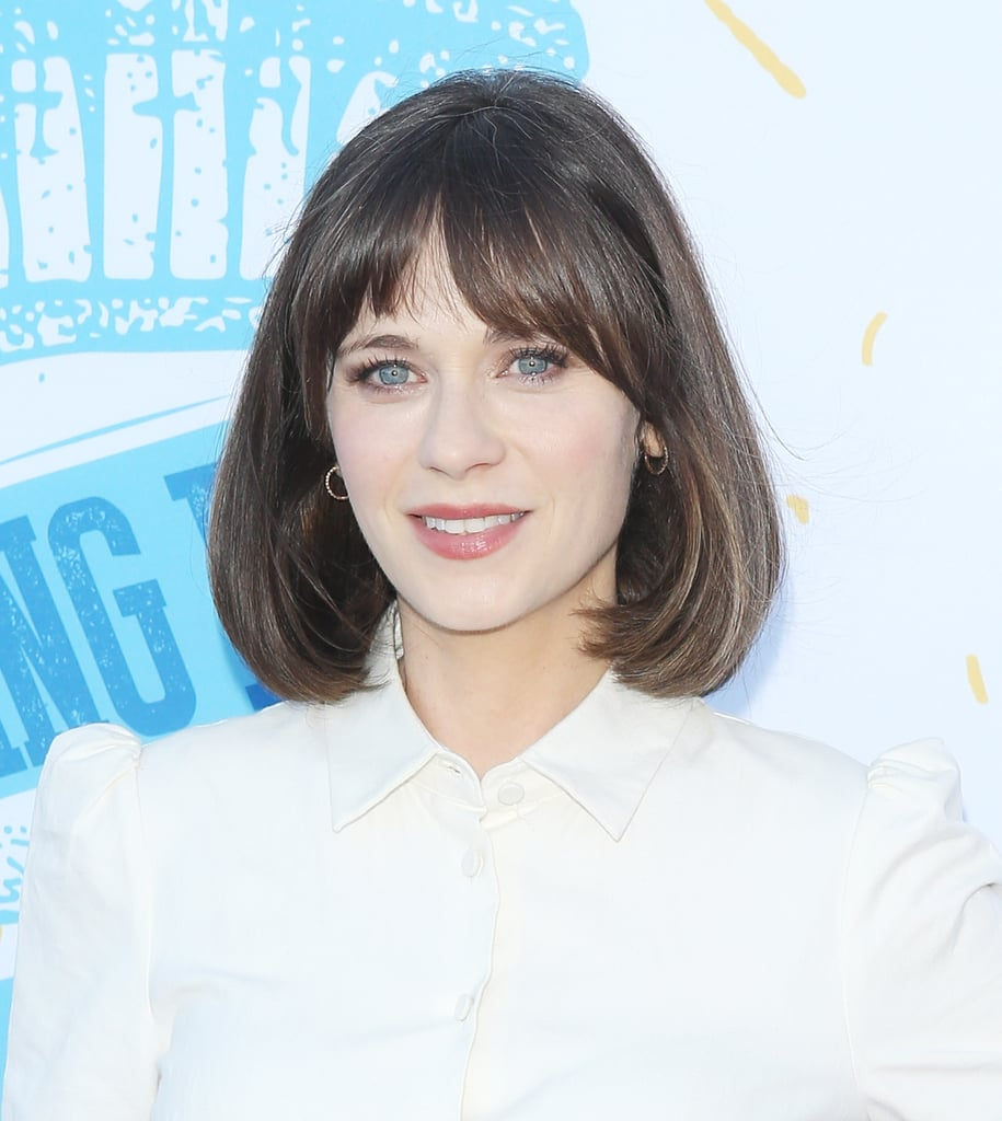 Zooey Deschanel With Curtain Bangs