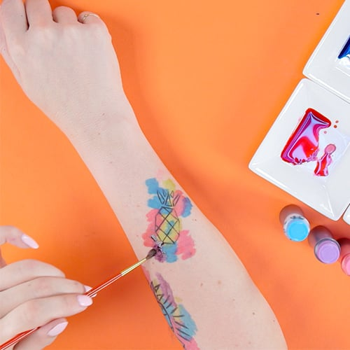 Temporary Watercolour Tattoo | Video