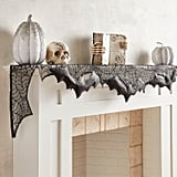 Spider Webs and Bats Halloween Mantel Scarf