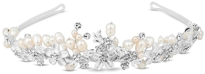 Butterfly by Matthew Williamson Crystal Flower and Freshwater Pearl Tiara (£45)