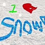 Make Snow Art