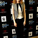 Emma Stone at Spider-Man's Earth Hour Kickoff in 2014