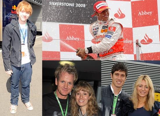 Photos Of Lewis Hamilton Winner Of The British Grand Prix and Rupert Grint, Gordon Ramsay, Vernon Kay, Tess Daly, Sarah Ferguson