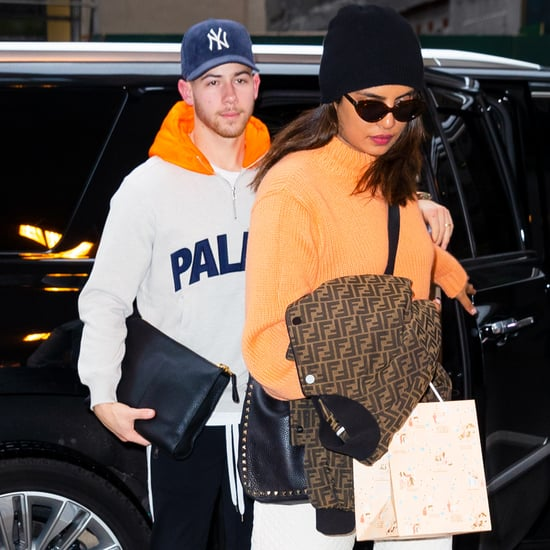 Priyanka Chopra and Nick Jonas Matching in Orange Outfits