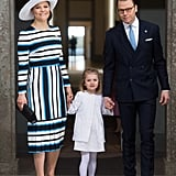 Princess Victoria Opted For a Striped Number