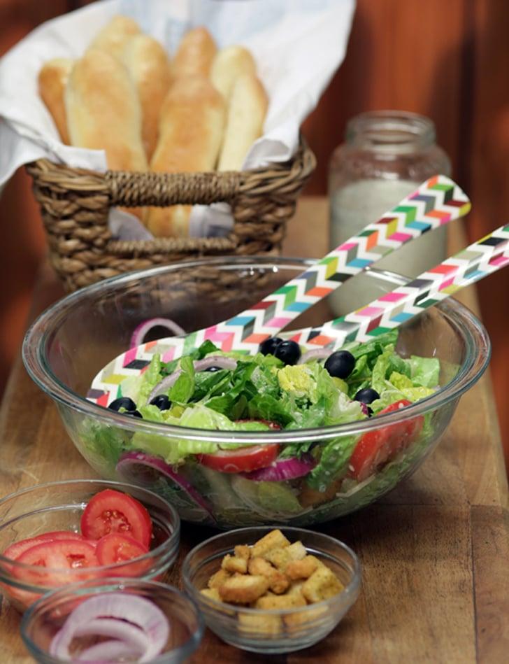 Olive Garden's Salad and Breadsticks