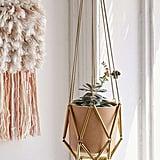 Urban Outfitters Ella Metal Macrame Hanging Planter