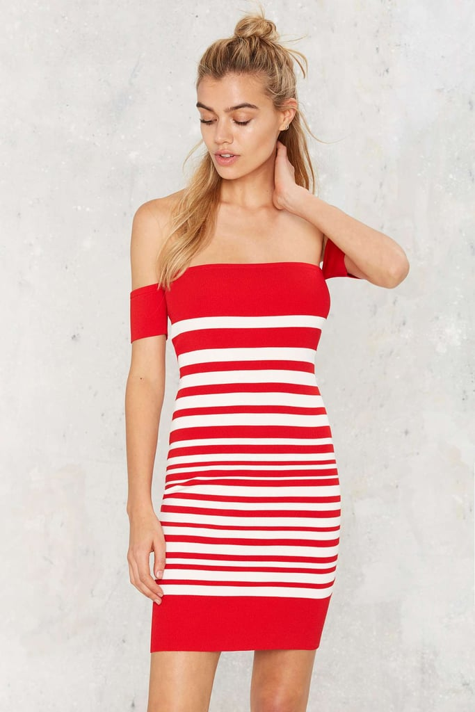 Nasty Gal Striped Down Mini Dress ($72)