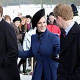 Prince William, Zara Tindall, and Prince Harry