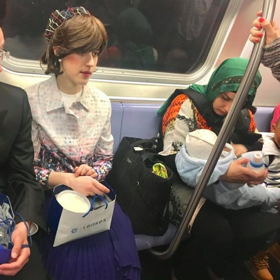 Viral Photo of Muslim Woman Holding Baby